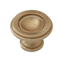 "Classic Brass - Classic - Marco 1 1/8"" (29mm) Knob in Burnished Brass"