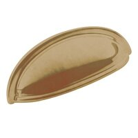"Classic Brass - Hutter Classic - 3"" Centers Large Cup Pull in Antique Polished Silver"