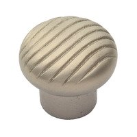 "Classic Brass - Canyon - Ribbed Knob 1 5/8"" (41mm) in Aged Silver"