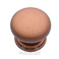 "Classic Brass - Classic - 1 1/4"" (32mm) Knob in Weathered Copper"