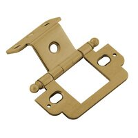 "Classic Brass - Hinge  - 3/4"" Partial Wrap Hinge with Ball Finial in Antique Polished Silver"