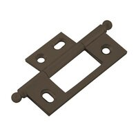 Classic Brass - Classic - Non-Mortise Hinge in Brass with Ball Finial in Oil Rubbed Bronze