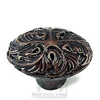 Copia Bronze - Murano - Oval Knob in Byzantine Bronze