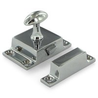 Deltana Hardware - Solid Brass Cabinet Locks - Solid Brass Small Cabinet Lock in Chrome