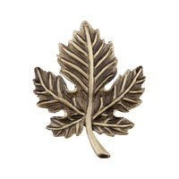 "Acorn MFG - Artisan - 1 3/4"" Leaf Knob in Antique Brass"
