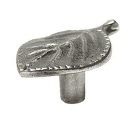 Earth To Peter - Nature Walk Knob and Pull - Aspen Leaf Knob in Antique Pewter Polished