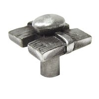 Earth To Peter - Zen Knob and Pull - Resting Stone Knob in Antique Pewter Polished