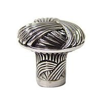 "Edgar Berebi - Barrington - 1 1/8"" Barrington Knob in Burnish Silver"