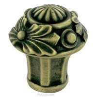 "Edgar Berebi - Nantucket - 1 5/8"" Diameter Nantucket Mini Knob in Antique Brass"