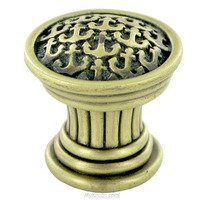 "Edgar Berebi - Yacht Club - 7/8"" Diameter Yacht Club Mini Knob in Antique Nickel"