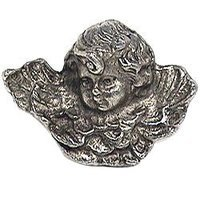 Emenee - This and That - Angel Knob in Antique Matte Silver