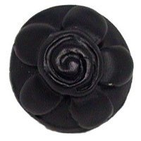 Emenee - Classics - Flower on Dome Knob in Antique Matte Silver
