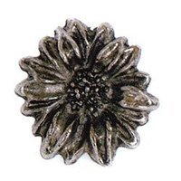 Emenee - Floral - Sun Flower Knob in Antique Bright Silver