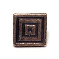 Emenee - Charisma - Small Square Knob in Antique Bright Silver