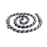 Emenee - Rope & Pipe - Rope Swirl Pull in Antique Bright Silver