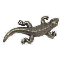 Emenee - Wild Things - Iguana Pull in Antique Bright Silver
