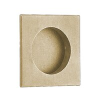 "Emtek Hardware - Door Accessories - 2 1/2"" Square Flush Pull in Polished Brass"