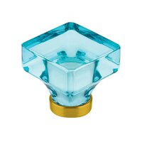 "Emtek Hardware - Crystal - 1 3/8"" Lido Cyan Crystal Knob in Oil Rubbed Bronze"