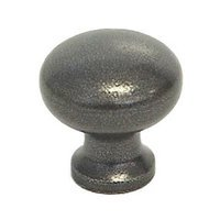 "LB Brass - European Country - Cabinet Knob ( 1"" ) in Satin Black"