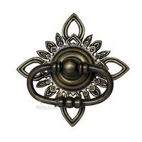 "Gado Gado - Ring Pull - 5 5/8"" Oval Pull with Filigree Star Plate"