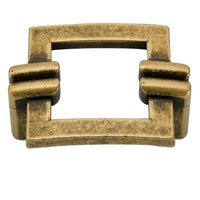 "Giusti Hardware - Antique Florence - Square Chain 1 1/4"" Centers Handle in Antique Florence"