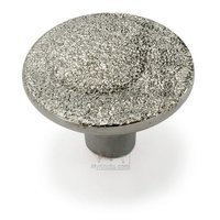 "Giusti Hardware - Linea -Luxury - Faint Swirl 1 3/16"" Diameter Knob in Diamantato Pave White Gold"