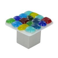 "Grace White Glass Hardware - Bold and Bright - 1 1/4"" Mackinaw Knob"