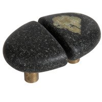 Michigan Naturals - Mountain Midnight Stone - Split Large Perfect Pair Knobs in Mountain Midnight