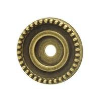 "Hafele Hardware - Classico - 1 1/8"" Diameter Backplate in Rustic Brass"