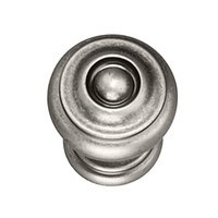 "Hafele Hardware - Somerset - 1 3/8"" Diameter Knob in Pewter"