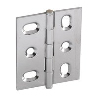 Hafele Hardware - Mortised Butt Hinges - Mortised Decorative Butt Hinge with Button Finial in Polished Chrome