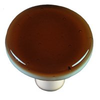 "Hot Knobs - Solids - 1 1/2"" Diameter Knob in Tan with Aluminum base"