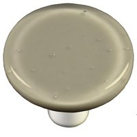 "Hot Knobs - Solids - 1 1/2"" Diameter Knob in Deco Gray with Aluminum base"