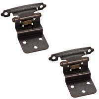 Hardware Resources - Builder Hardware - 3/8 Inset Hinge in Dark Brushed Antique Copper (PAIR)