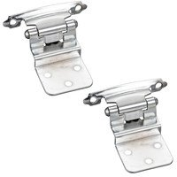 Hardware Resources - Builder Hardware - 3/8 Inset Hinge in Polished Chrome (PAIR)