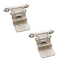 Hardware Resources - Builder Hardware - 3/8 Inset Hinge in Satin Nickel (PAIR)