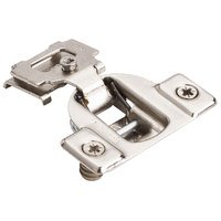 "Hardware Resources - Hinges - 1/2"" Overlay 1 Piece Face Frame Hinge with Overlay Adjustment with Dowels in Nickel"