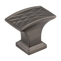 "Hardware Resources - Jeffrey Alexander Aberdeen Cabinet Hardware - 1-1/2"" Lined Cabinet Knob in Brushed Pewter"