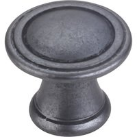 "Hardware Resources - Jeffrey Alexander Chesapeake Cabinet Hardware - 1-3/16"" Diameter Codova Cabinet Knob in Gun Metal"