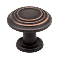 "Hardware Resources - Elements Vienna Cabinet Hardware - 1 1/4"" Diameter Spiral Knob in Brushed Oil Rubbed Bronze"