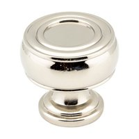 "Hardware Resources - Jeffrey Alexander Bremen Cabinet Hardware - 1 3/16"" Diameter Gavel Knob in Polished Nickel"