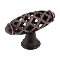 "Jeffrey Alexander - Tuscany Cabinet Hardware - 2 5/16"" Bird Cage Knob in Brushed Oil Rubbed Bronze"