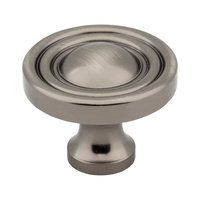 "Hardware Resources - Jeffrey Alexander Bella Cabinet Hardware - 1 3/8"" Diameter Knob in Brushed Pewter"