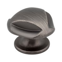"Hardware Resources - Jeffrey Alexander Chesapeake Cabinet Hardware - 1 5/16"" Diameter Knob in Brushed Pewter"