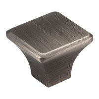 "Jeffrey Alexander - Marlo Cabinet Hardware - 1 1/4"" Square Knob in Brushed Pewter"
