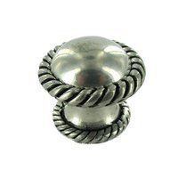 "Vicenza Hardware - Equestre - Large Knob 1 1/4"" in Satin Nickel"