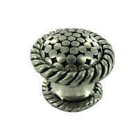 "Vicenza Hardware - Tiziano - Large Knob 1 1/4"" in Satin Nickel"
