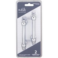 "Kasaware - Decorative Pulls - (2pc Pack) 3"" Centers Cabinet Pull in Polished Chrome"