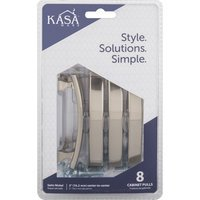 "Kasaware - Decorative Pulls - (8pc Pack) 3"" Centers Cabinet Pull in Satin Nickel"