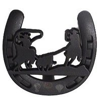Wild Western Hardware - Matte Black - Calf Roping Horseshoe Knob in Matte Black